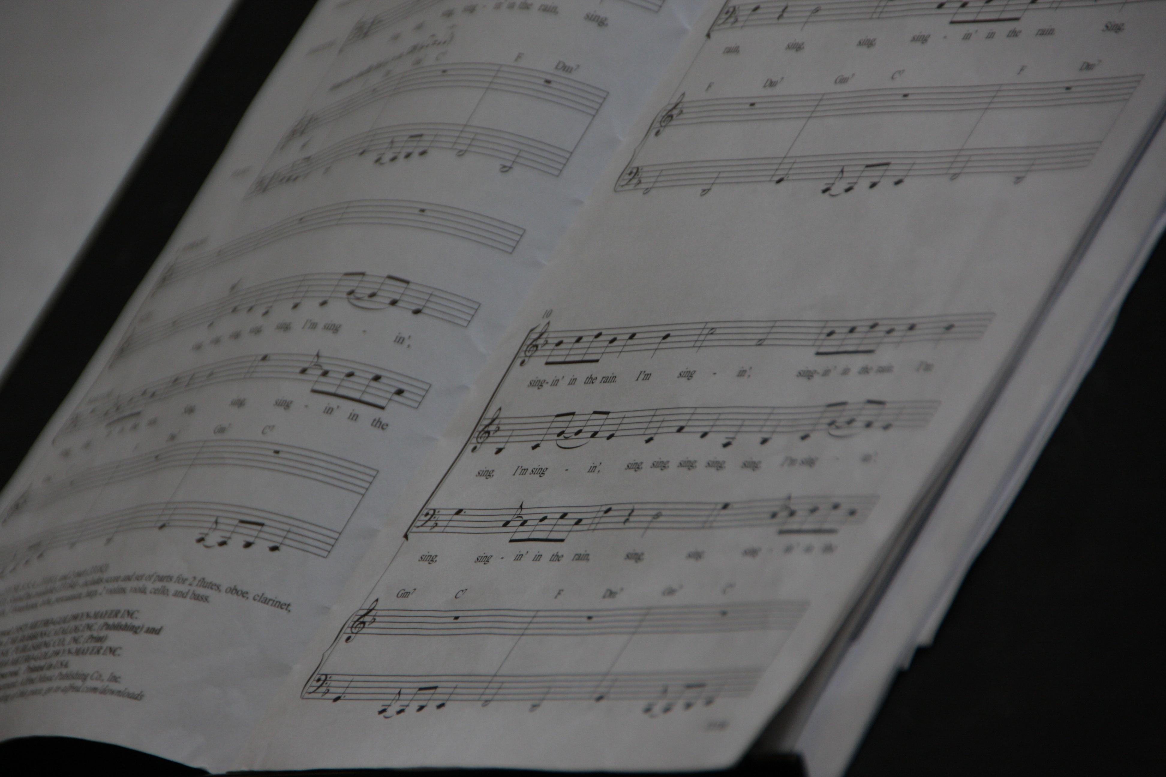 free images writing receipt concert line sheet music font