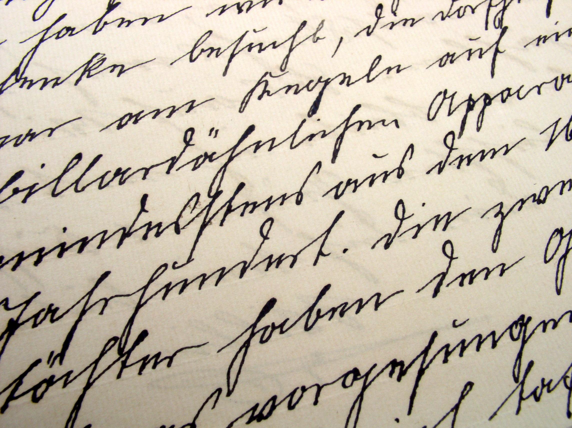 Old fashioned handwriting alphabet 5