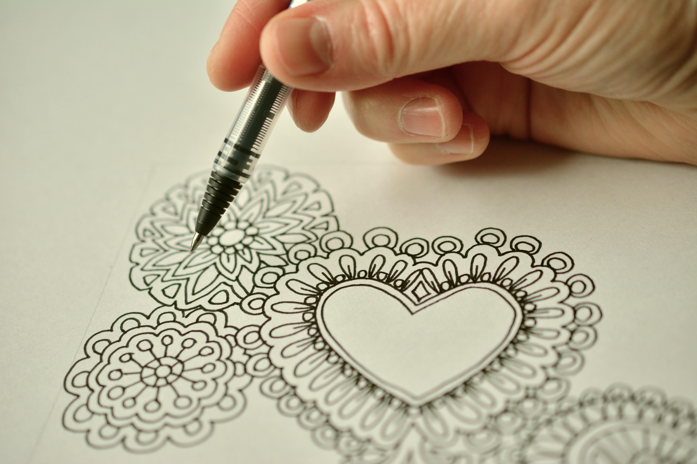 Kostenlose foto : Schreiben, Stift, Muster, Farbe, Kunst, skizzieren ...