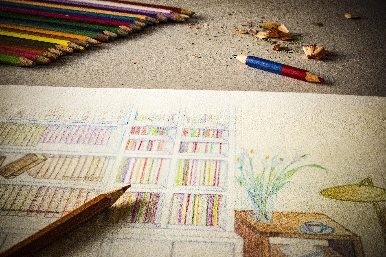 Galeri Sketsa Gambar Komposisi Pensil Warna