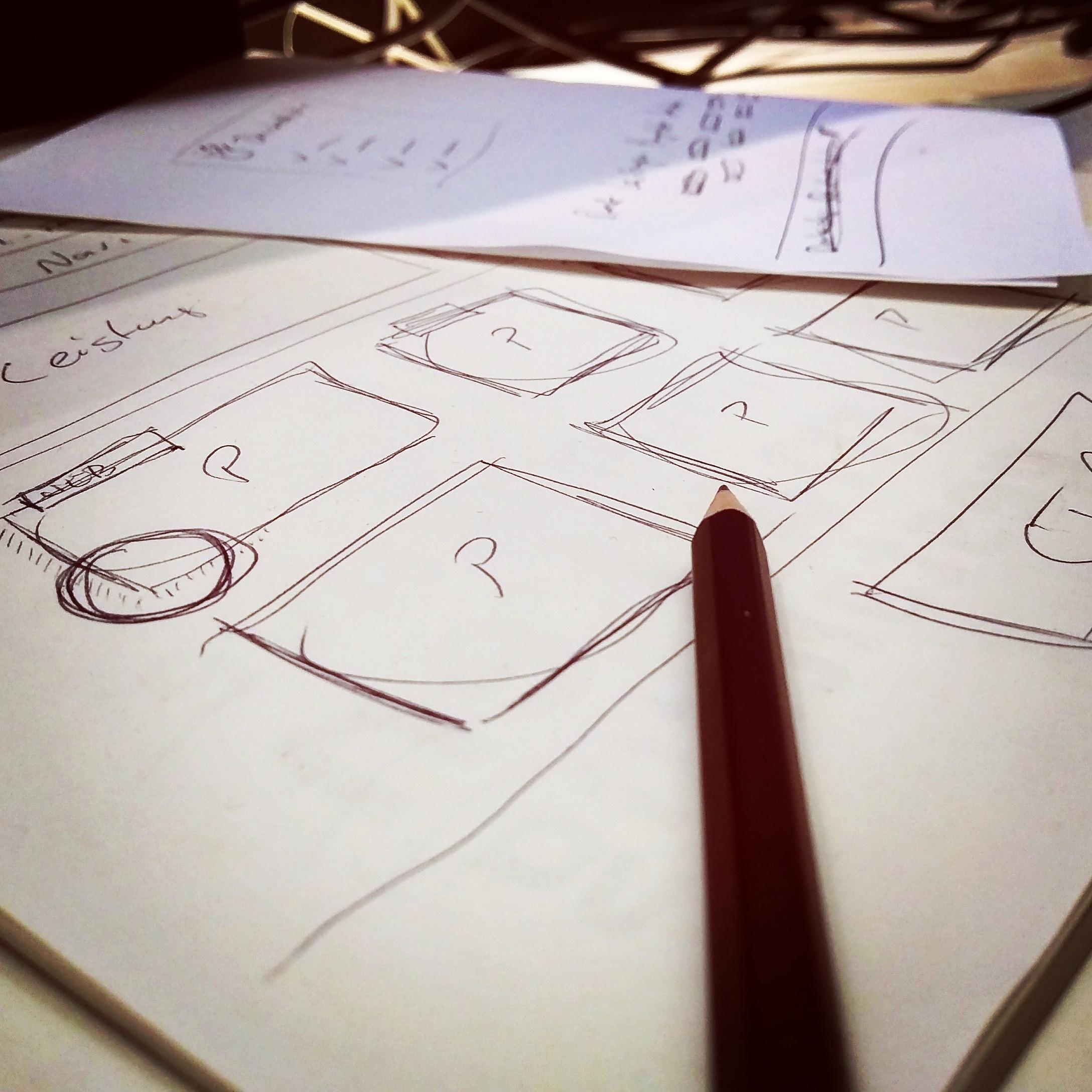 Gambar Penulisan Pensil Kreatif Daun Pena Analog Notepad