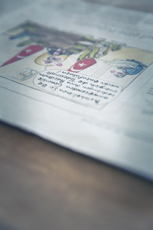 Gambar Penulisan Baca Baca Putih Simbol Komunikasi Biru