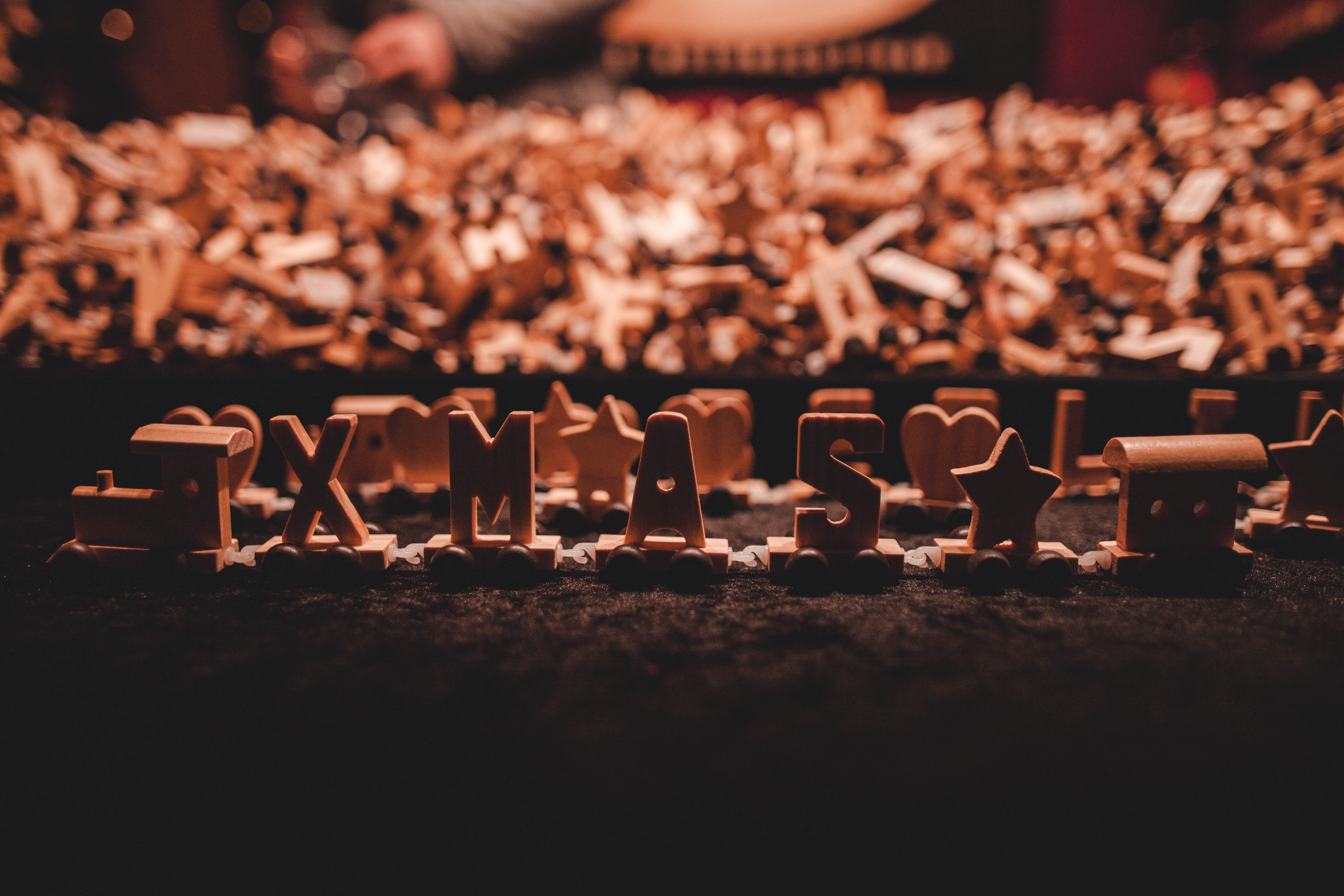 Schriftart Weihnachten.Kostenlose Foto Weihnachten Holz Publikum Schriftart Menge