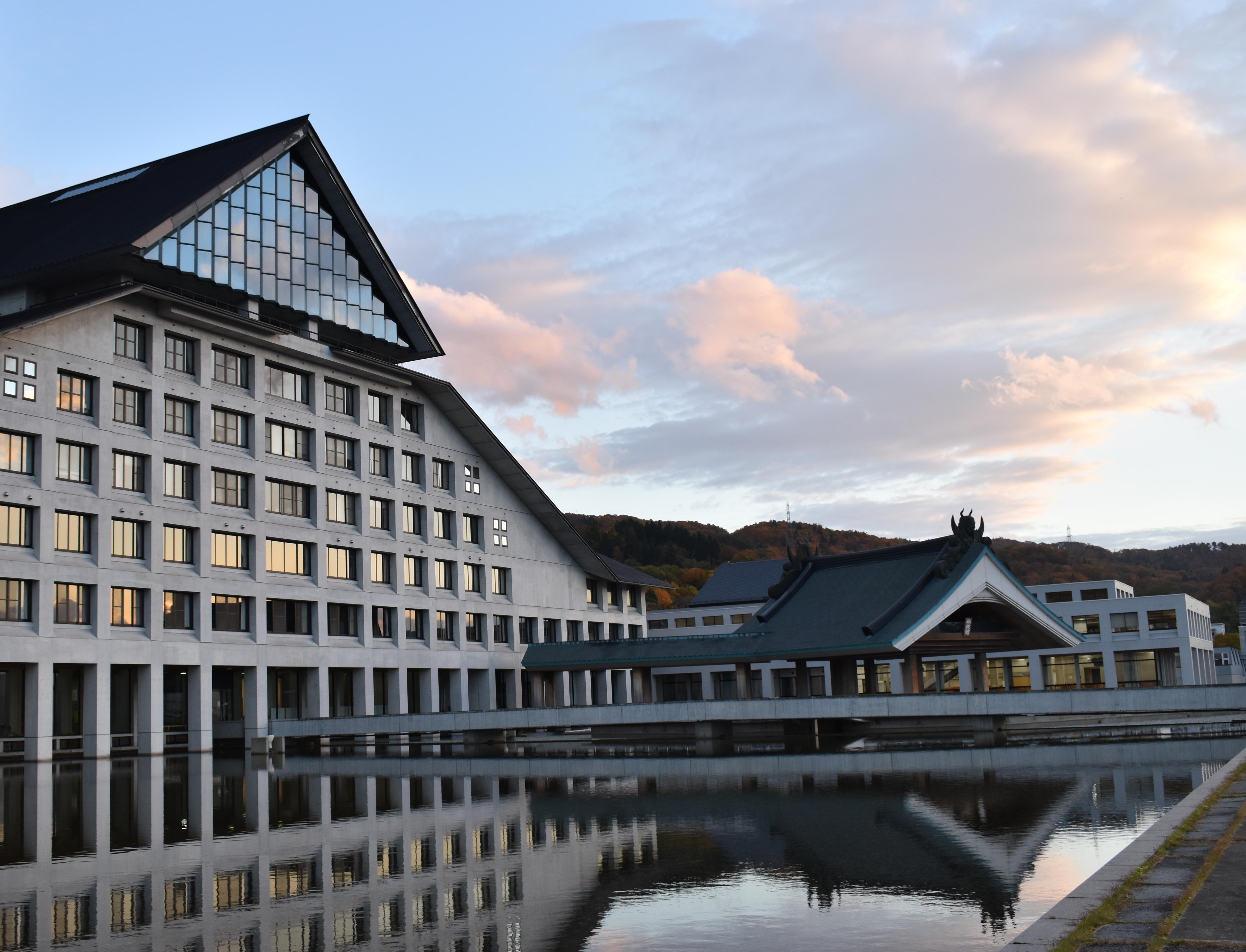 Free Images : yamagata, japan, university, water, mirror